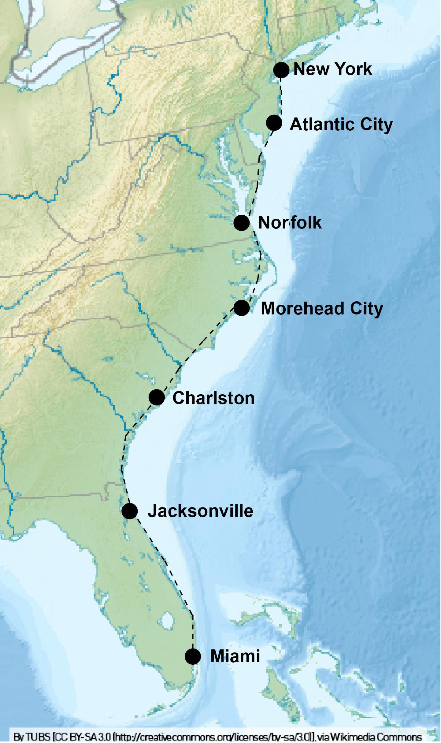 Karte Von Florida Westkuste.Ostkuste Usa Blu Venture De